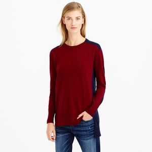 J.Crew Colorblock Crewneck Sweater Tunic